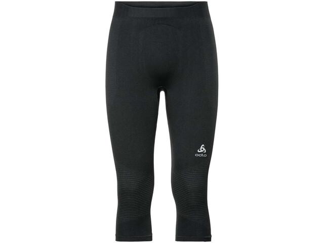 Odlo Suw Performance Warm Pantalones 3/4 Hombre, black-odlo concrete grey
